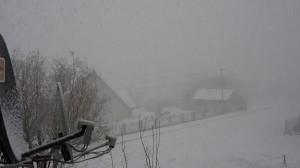 Burza śnieżna w Brzesku w dn. 13.01.2012. Fot. T. Machowski