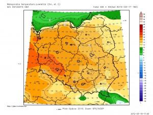Maksymalne wartości temperatur (gfs.pl)