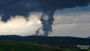 Scud cloud zaobserwowany w dn. 5 maja 2016 r. w okolicach Krosna (fot. Bartosz Kolanko)