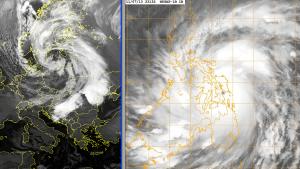 """Z lewej strony - dynamiczny niż """"Xaver"""", zaś z prawej - """"Super Tajfun Haiyan"""""""