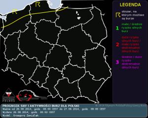 Prognoza konwekcyjna na dzień 26.08.2014 i na noc 26/27.08.2014