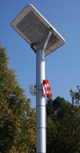 Lampa będąca częścią systemu ostrzegającego przed zbliżającą się burzą