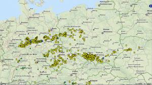 (Raporty zgłoszone do bazy danych ESWD z centralnej Europy z dni 07-08.07.2015 [16])