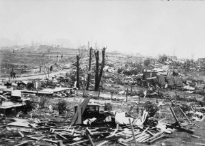 Zniszczenia w Gainesville