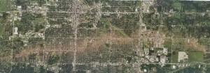 Zniszczenia w Joplin z dużej wysokości