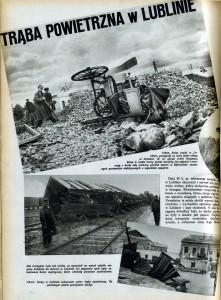 Informacja o tornadzie w gazecie