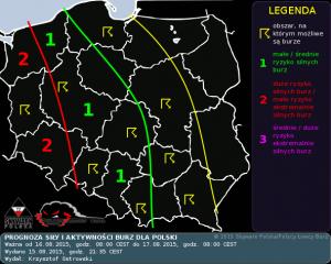 Prognoza konwekcyjna na dzień 16.08.2015 i noc 16/17.08.2015