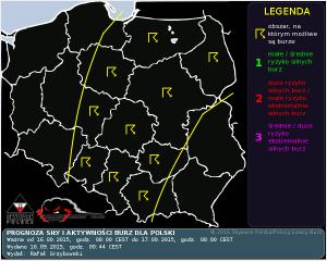 Prognoza konwekcyjna na dzień 16.09.2015 i na noc 16/17.09.2015