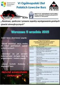 Plakat promujący VI Zlot PŁB