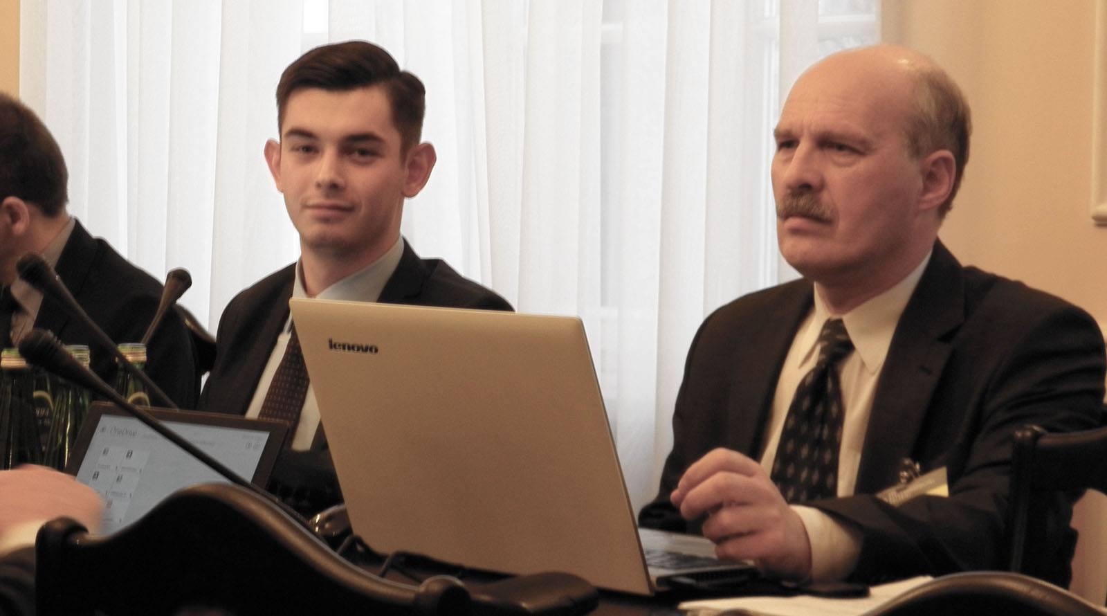 Piotr Szuster oraz dr Marek Chabior w Sejmie