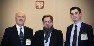 dr Marek Chabior, minister Witold Kołodziejski i inż. Piotr Szuster