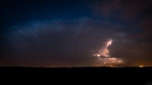 Oddalająca się burza widziana z Przemyśla (fot. Radek Wierzbiński)