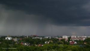 Chmura burzowa nad Krakowem