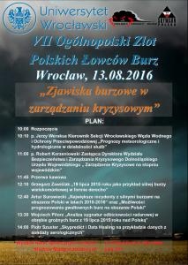 Program seminarium z okazji VII Ogólnopolskiego Zlotu Polskich Łowców Burz