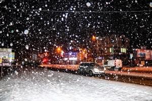 Intensywny opad śniegu. Fot. Grzegorz Zawiślak.