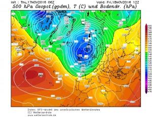 Prognozowana sytuacja baryczna na piątek, godzinę 12 UTC