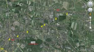 Szlak trąby powietrznej z Chorzowa i Siemianowic Śląskich.