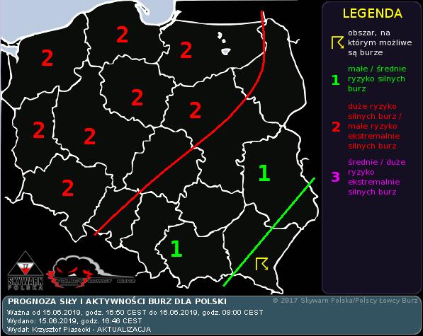 Polscy Łowcy Burz 15 czerwca burze Polska