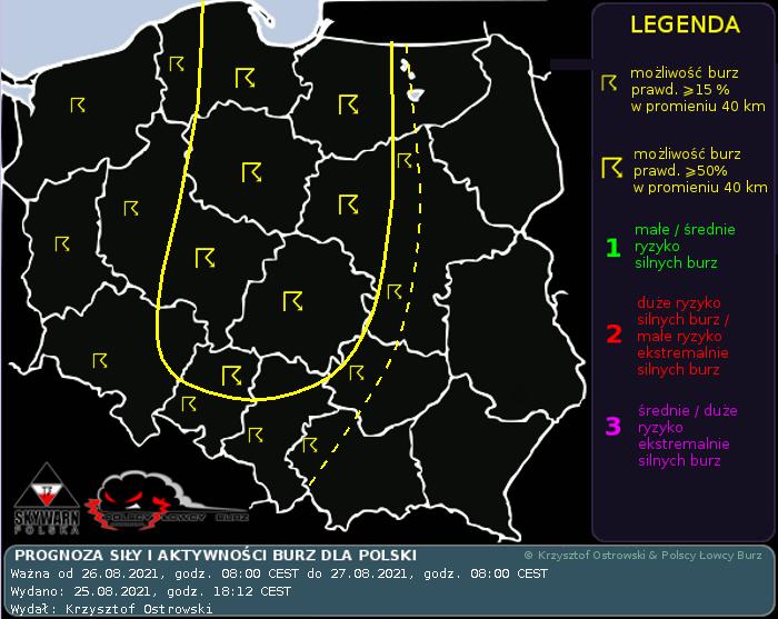 Prognoza konwekcyjna na dzień 26.08.2021 i noc 26/27.08.2021