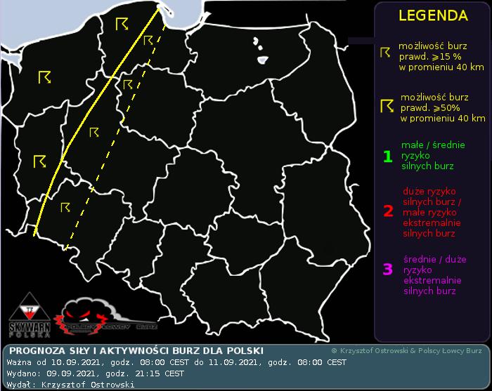 Prognoza konwekcyjna na dzień 10.09.2021 i noc 10/11.09.2021